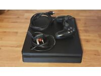 PS4 Slim 1TB with all necessary leads, controller and original box