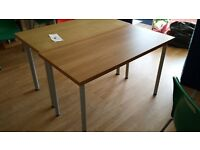 Ikea office style tables with oak veneer tops