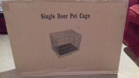 Single door pet cage small
