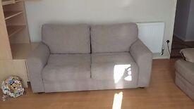 Large 2 seater sofa light grey.