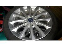 ford fiesta original zetec mk9 alloy wheels pristine condition