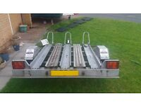 Motorcycle Trailer - Carries 3 Large Motorbikes - Delivery Available