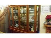 Antique Glass mirror cabinet
