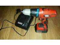 black and decker 18v cordless dril