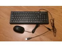 Packard bell wired computer keyboard with mouse