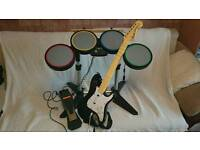 Xbox Rock Band instruments