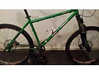 """On One Inbred 18"""" Slotted Frame c/w Headset, seat-post, clamp & chain tugs"""