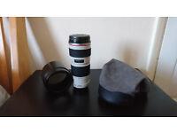 Canon EF 70-200mm f/4.0L USM Lens (Excellent condition)