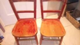 Kids preschool wooden chairs (2)