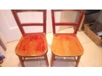 Kids preschool wooden chairs (2)