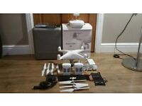DJI PHANTOM 4 DRONE WITH ARGTEK RANGE EXTENDER FROM AMERICA (UP TO 6 MILES) MINT CONDITION.