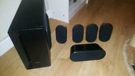 Samsung surround sound speakers and sub