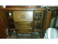 Antique Bureau with Lockable Cupboards