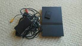 PS2 with memory card and leads