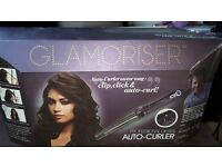 Auto hair curler in the box