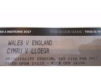 Wales v England 6 nations Tickets (2)