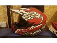 Nitro moto x large helmet, progrip goggles