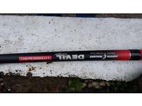 Jarvis Walker 11ft 2 piece Devil Stix Feeder Rod with Quiver tip and Laser cx35 Reel