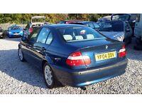 BMW 3 SERIES 1798cc Petrol Saloon, Manual Blue, 2004(04) Full Mot.