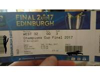 Champions cup rugby tickets face value