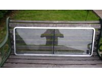 Volkeswaggen campervan type 2 rear sliding wimdow