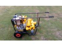 PETTER DIESEL SPATE WATER PUMP BOUGHT AS STAND BY NEVER USED MORE INFORMATION IN DETAILS £495
