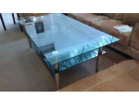 Large glass coffee table (delivery available)