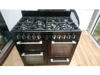Leisure Cookmaster 100cm Dual Fuel Range Cooker - Black (worth £850)