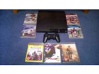 SONY PLAYSTATION PS3 120GB + 10 GAMES AND OFFICIAL CONTROLLER