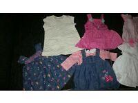 Girls 0-3 months dress bundle