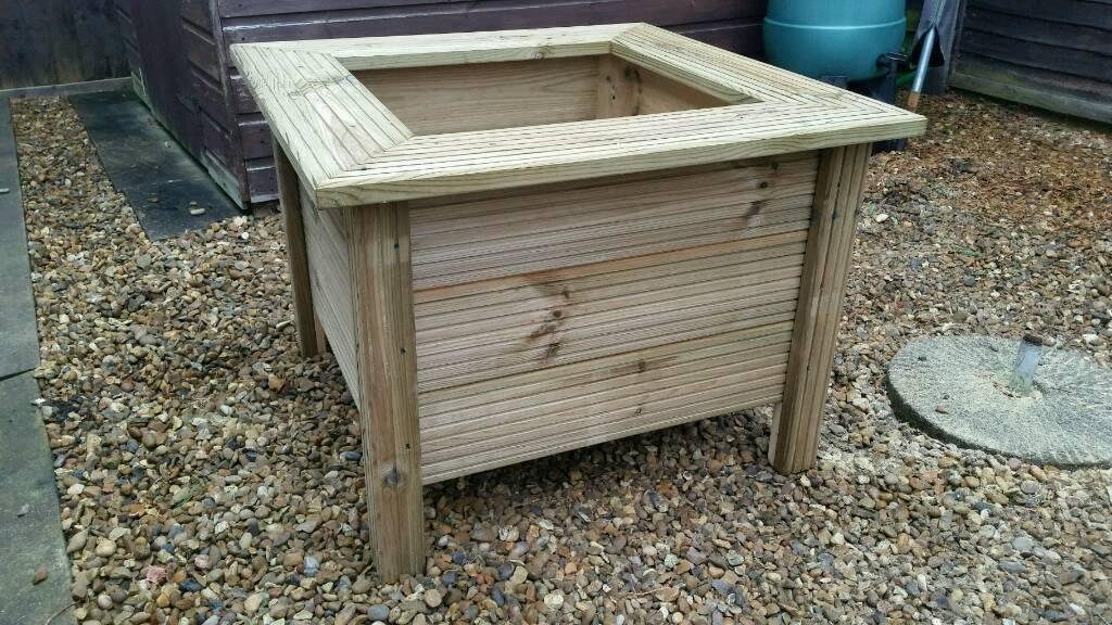 NEW Large Wooden Garden Planter
