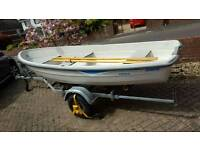 Terhi 3.85m Boat Rowing Dinghy Outboard Fishing Tender Sailing