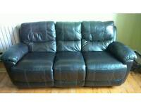 2 x 3 seater sofas with manual recliner