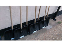 50 New - With Labels Snow Shovels - 1.2 Meter Solid Wood Handle - Joblot