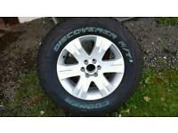 Nissan navara alloy and tyre brand new