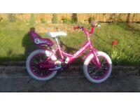 KIDS GIRLS CHILDREN RALEIGH MOLLY 16& WHEEL BIKE BICYCLE