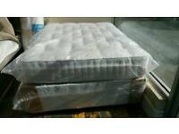 NEW Double Hemswell 2000 Pocket Sprung Ortho Mattress with a Double Divan Base