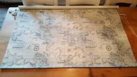 Vintage Style Colonial World Map Atlas BLACKOUT ROLLER BLIND