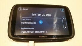 TomTom Go 6000 Sat Nav with Life time Map updates and Traffic