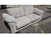 Jumbo-Cord 3 Seater Sofa Settee Couch - Beige - New - Bargain!!