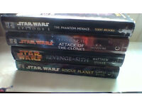 4 hardback Star Wars novels in very good condition
