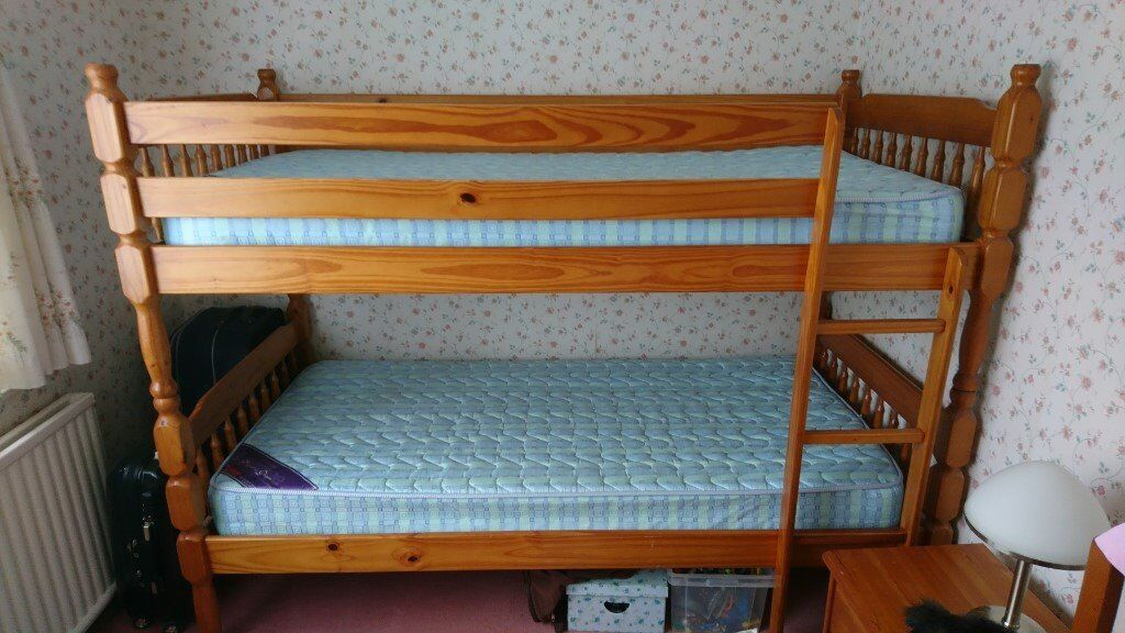 Bunk Beds2 Single Beds Do Come Apart In Solid Pine Wood With