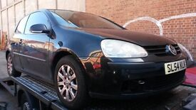 Breaking VW GOLF FSI SE MK5 3DR 2004 1.6 PETROL MANUAL 6 SPEED 115BHP BLACK