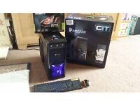 The Beast i7 Quad Core Gaming PC, 8GB DDR3 RAM, Fast 60GB SSD, 500GB HD, NEW GeForce GTX 1050 Ti 4GB