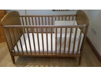 **REDUCED** Eddershaws child's cot/bed, with mattress. Excellent condition