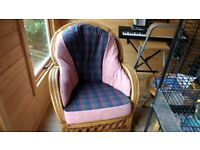 Lovely Wicker Armchair Recently recovered