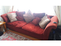 4 seater sofa and a single arm chair