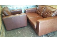 2 seater and armchair