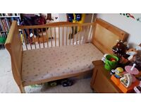 Light pine Cotbed. Daybed style. Great condition.