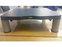 10 Fellowes Premium Adjustable Monitor Risers in graphite grey